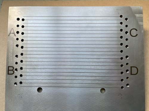 304 stainless steel fixture plate aerospace component